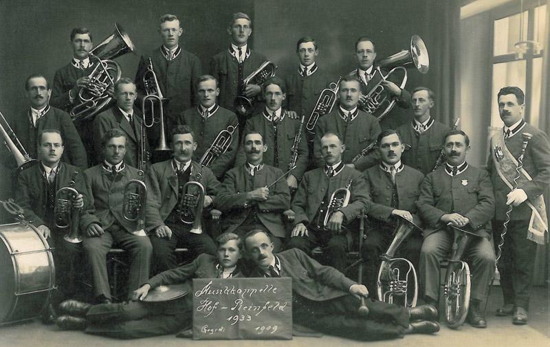 Musikkapelle Hof-Plainfeld 1933