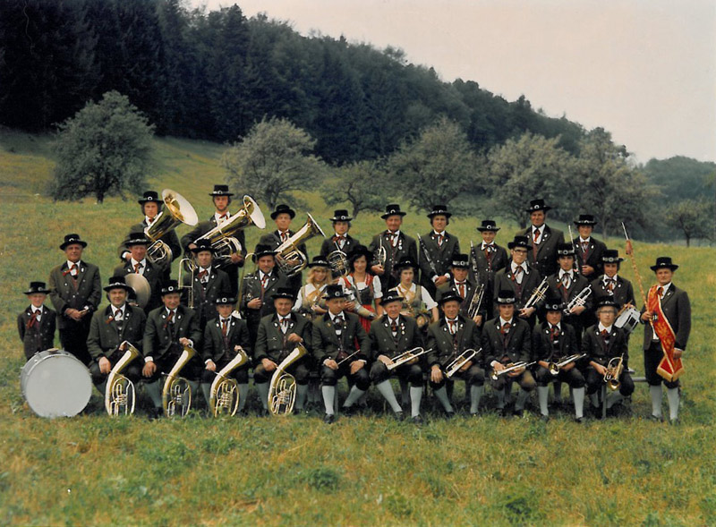 Musikkapelle Hof-Plainfeld 1976